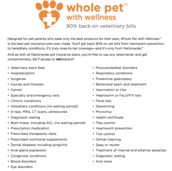 Nationwide Whole Pet:Wellness